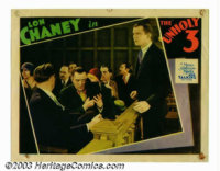 "Unholy Three, The (MGM, 1930). Lobby Card (11"" X 14""). Lon Chaney spoke onscreen for the one and only time in..."