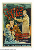 """Movie Posters:Horror, Living Dead, The (First National, 1936). One Sheet (27"""" X 41""""). British International Pictures released this film in England..."""