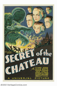 """Secret of the Chateau (Universal, 1934). One Sheet (27"""" X 41""""). A murder mystery set in France, this is a stor..."""