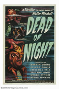 "Movie Posters:Horror, Dead of Night (Universal, 1946). One-Sheet (27"" X 41""). An architect, seeking work at an old farm house, finds himself once ..."