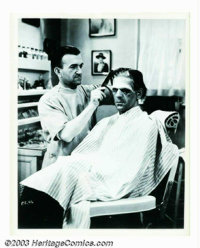 "Frankenstein Still (Universal, 1931). 8"" X 10"". This original still gives a view into the famous Universal mak..."