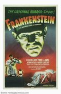 """Movie Posters:Horror, Frankenstein (Universal, R-1947). One Sheet (27"""" X 41""""). What morecan be said about the classic of all horror films? Offere..."""