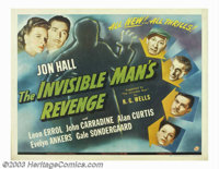 "Invisible Man's Revenge, The (Universal, 1944). Half Sheet (22"" X 28""). A convict takes the invisibility serum..."