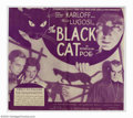 """Movie Posters:Horror, Black Cat, The (Universal, 1934). Herald (7 1/4"""" X 8""""). Boris Karloff and Bela Lugosi are teamed for the first time in this ..."""