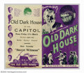 "Movie Posters:Horror, Old Dark House, The (Universal, 1932). Herald (7 1/8"" X 8"").Karloff starred again after his huge success in ""Frankenstein""...."