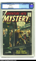 Silver Age (1956-1969):Horror, Adventure Into Mystery #8 (Atlas, 1957) CGC NM- 9.2 Off-white towhite pages. This is the last issue of a short run, and it ...
