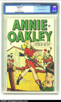 Golden Age (1938-1955):Western, Annie Oakley #1 (Timely, 1948) CGC NM 9.4 Off-white pages. Call uscynical, but it sure seems Timely took some license with ...