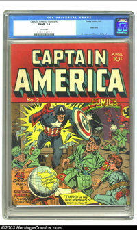 Captain America Comics #2 (Timely, 1941) CGC FN/VF 7.0 Cream pages. If the casual comic book reader wasn't familiar with...