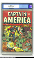Golden Age (1938-1955):Superhero, Captain America Comics #2 (Timely, 1941) CGC VG- 3.5 Cream to off-white pages. Der Fuehrer goes two for two in cover appeara...