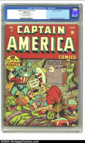 Golden Age (1938-1955):Superhero, Captain America Comics #4 (Timely, 1941) CGC GD/VG 3.0 Slightly brittle pages. Alex Schomburg was pushing the envelope with ...