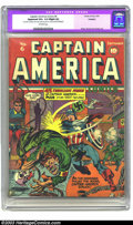 Golden Age (1938-1955):Superhero, Captain America Comics #6 (Timely, 1941) CGC Apparent VG+ 4.5 Slight (A) Off-white pages. Cap creator Jack Kirby gets cover ...