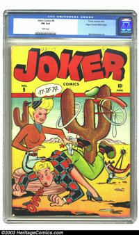 Joker Comics #9 Mile High pedigree (Timely, 1943) CGC FN 6.0 White pages. Great Wolverton art and white pages are the hi...