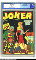 Golden Age (1938-1955):Humor, Joker Comics #12 Mile High pedigree (Timely, 1943) CGC FN/VF 7.0 White pages. This comic is by far the highest yet graded by...