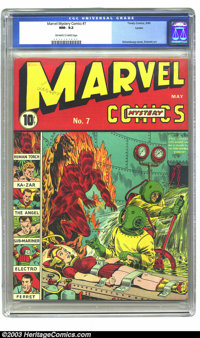 Marvel Mystery Comics #7 Larson pedigree (Timely, 1940) CGC NM- 9.2 Off-white to white pages. With each issue he did for...
