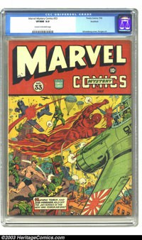 Marvel Mystery Comics #33 Rockford pedigree (Timely, 1942) CGC VF/NM 9.0 Cream to off-white pages. The incomparable acti...