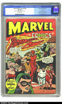"""Marvel Mystery Comics #86 """"D"""" pedigree (Timely, 1948) CGC VF 8.0 Off-white pages. """"Join Torch and Toro in..."""