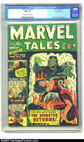 Golden Age (1938-1955):Horror, Marvel Tales #96 Diamond Run pedigree (Atlas, 1950) CGC NM- 9.2Cream to off-white pages. Frankenstein's Monster returns to ...