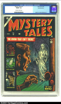 Mystery Tales #12 White Mountain pedigree (Atlas, 1953) CGC FN/VF 7.0 Off-white to white pages. Cover artist Joe Maneely...