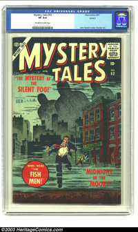 Mystery Tales #52 Circle 8 pedigree (Atlas, 1957) CGC VF 8.0 Off-white to white pages. John Severin captures a perfect m...