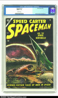 Golden Age (1938-1955):Science Fiction, Space Man #1 (Atlas, 1953) CGC FN/VF 7.0 Off-white pages. It's agaggle of Godzillas before there was a Godzilla, and they a...