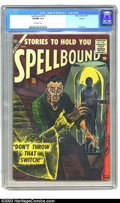Golden Age (1938-1955):Horror, Spellbound #33 Circle 8 pedigree (Atlas, 1957) CGC VF/NM 9.0Off-white pages. EC alumni, Angelo Torres, provided story art f...