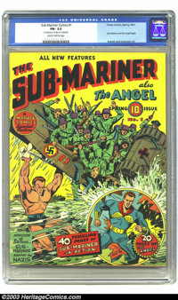 Sub-Mariner Comics #1 (Timely, 1941) CGC FN- 5.5. Sub-Mariner and the Angel begin; Everett and Gustavson art. CGC notes:...
