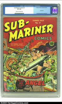 Sub-Mariner Comics #2 (Timely, 1941) CGC VF 8.0 Cream to off-white pages. Timely at its finest, with one of comics' most...