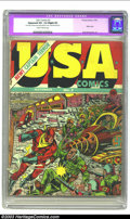 Golden Age (1938-1955):Superhero, USA Comics #2 (Timely, 1941) CGC Apparent VG- 3.5 Slight (P) Slightly brittle pages. Hitler appears in his crazy-looking con...