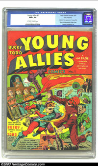 Young Allies Comics #1 San Francisco pedigree (Timely, 1941) CGC NM+ 9.6 Off-white to white pages. This milestone Timely...