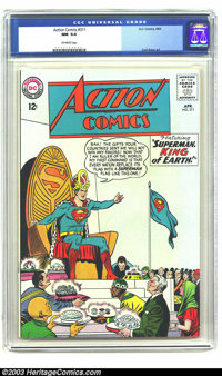 Action Comics #311 (DC, 1964) CGC NM 9.4 Off-white pages. Curt Swan aids Superman in becoming the King of Earth in this...