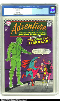 Adventure Comics #357 (DC, 1967) CGC NM 9.4 Off-white pages. Curt Swan does the art for this issue, including the cover...