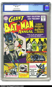 Batman Annual #1 (DC, 1961) CGC VF 8.0 Cream to off-white pages. Curt Swan does the art for this squarebound giant-sized...