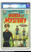 Silver Age (1956-1969):Science Fiction, House of Mystery #53 White Mountain pedigree (DC, 1956) CGC NM 9.4White pages. This Comics Code Authority approved cover de...