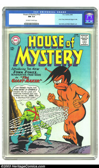 House of Mystery #143 (DC, 1964) NM 9.4 Off-white to white pages. J'onn J'onzz, the Manhunter from Mars make his House o...