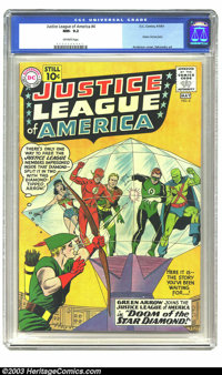 Justice League of America #4 (DC, 1961) NM- 9.2 Off-white pages. Green Arrow joins the gang in this great Silver Age iss...