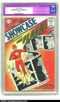 Silver Age (1956-1969):Superhero, Showcase #4 The Flash (DC, 1956) CGC Apparent VF+ 8.5 Slight (P) Cream pages. Generally regarded as inaugurating the Silver ...