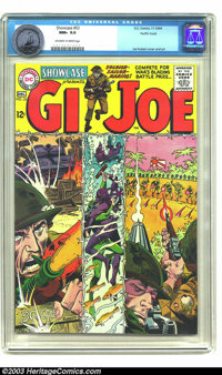 Showcase #53 G. I. Joe - Pacific Coast pedigree (DC, 1964) CGC NM+ 9.6 Off-white to white pages. Fan-favorite war artist...