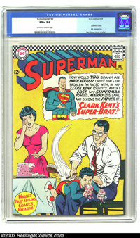 Superman #192 (DC, 1967) CGC NM+ 9.6 Off-white to white pages. This gorgeous DC Silver Age gem of a comic has a Curt Swa...