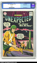 Golden Age (1938-1955):Science Fiction, Tales of the Unexpected #38 White Mountain pedigree (DC, 1959) CGCVF 8.0 White pages. Silver Age DC science fiction comics ...