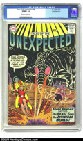 Silver Age (1956-1969):Science Fiction, Tales of the Unexpected #48 White Mountain pedigree (DC, 1960) CGCVF/NM 9.0 Off-white to white pages. A weird sci-fi cover ...