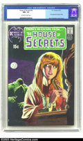 Bronze Age (1970-1979):Horror, House of Secrets #92 (DC, 1971) CGC NM+ 9.6 Off-white to white pages. DC's most valued Bronze Age comic book, currently rank...