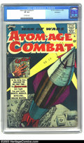 Golden Age (1938-1955):War, Atom-Age Combat #1 Bethlehem pedigree (St. John, 1958) CGC VF 8.0 Off-white pages. This is St. John's first post-Code issue ...