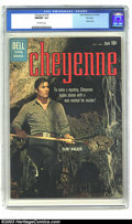 Silver Age (1956-1969):Western, Cheyenne #18 File Copy (Dell, 1960) NM/MT 9.8 Off-white pages.Great photo cover of Clint Walker as cowboy hero Cheyenne wor...