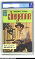 Silver Age (1956-1969):Western, Cheyenne #23 File Copy (Dell, 1961) NM/MT 9.8 Off-white pages.Superb photo cover featuring Clint Walker in a great action p...