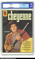 Silver Age (1956-1969):Western, Cheyenne #25 File Copy (Dell, 1961) CGC NM+ 9.6 Off-white pages. This last-issue photo cover features Clint Walker in a clas...