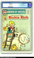 Silver Age (1956-1969):Humor, Harvey Hits #3 Richie Rich File Copy (Harvey, 1957) CGC NM 9.4 Cream to off-white pages. Before the Poor Little Rich Boy gai...