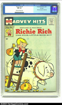 Harvey Hits #3 Richie Rich File Copy (Harvey, 1957) CGC NM 9.4 Cream to off-white pages. Before the Poor Little Rich Boy...