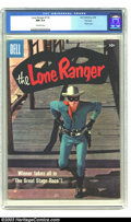 Silver Age (1956-1969):Western, The Lone Ranger #116 File Copy (Dell, 1958) CGC NM 9.4 Off-whitepages. Clayton Moore photo cover showing the Lone Ranger ab...