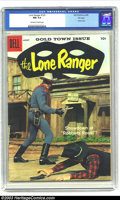Silver Age (1956-1969):Western, The Lone Ranger #122 File Copy (Dell, 1958) CGC NM 9.4 Off-white towhite pages. Clayton Moore photo cover, and a great one ...