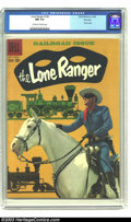 "Silver Age (1956-1969):Western, The Lone Ranger #126 File Copy (Dell, 1959) CGC NM 9.4 Off-white to white pages. ""Railroad Issue"", with a photo of Clayton M..."